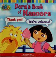Cover of: Dora's book of manners | Christine Ricci