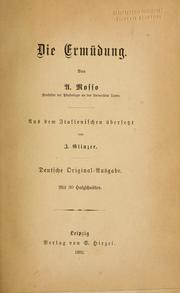 Cover of: Die ermüdung