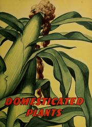 Cover of: Domesticated plants | Bertha Morris Parker
