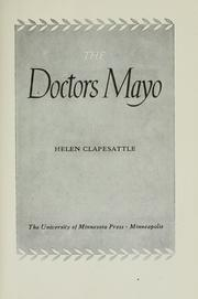 Cover of: The Doctors Mayo | Helen Clapesattle