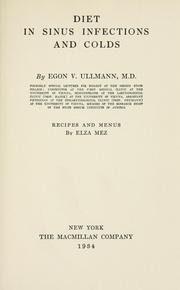 Cover of: Diet in sinus infections and colds. -- | Egon Victor Ullmann