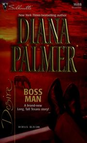 Cover of: Boss man | Diana Palmer