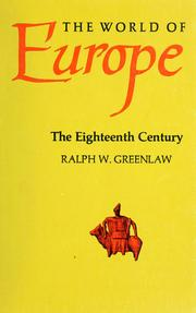 Cover of: The eighteenth century | Ralph W. Greenlaw