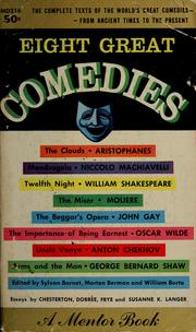 Cover of: Eight great comedies | Sylvan Barnet