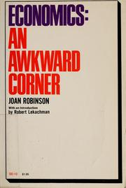 Cover of: Economics: an awkward corner