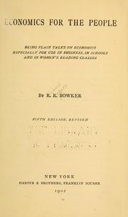 Cover of: Economics for the people | R. R. Bowker