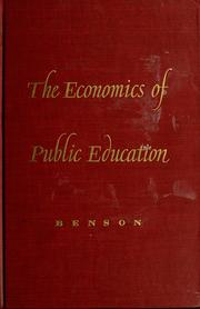 Cover of: The economics of public education. | Charles Scott Benson