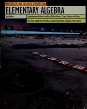 Cover of: Elementary algebra | Joan Dykes