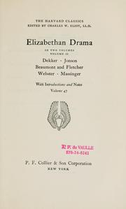 Cover of: Elizabethan drama, in two volumes, volume II |