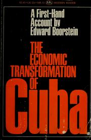 Cover of: The economic transformation of Cuba | Edward Boorstein