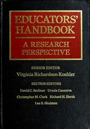 Cover of: Educators' Handbook | Virginia Richardson-Koehler