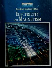 Cover of: Electricity and magnetism |