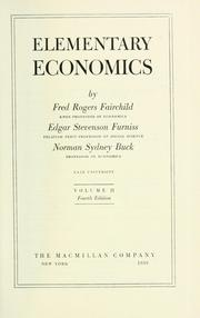 Cover of: Elementary economics | Fred Rogers Fairchild