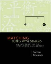 Cover of: Matching Supply with Demand | Gerard Cachon