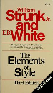 Cover of: The elements of style by William Strunk Jr.