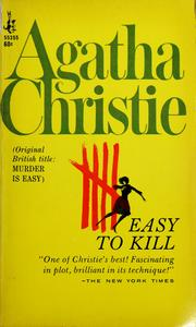 Cover of: Easy to kill = | Agatha Christie