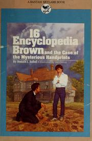 Cover of: Encyclopedia Brown and the case of the mysterious handprints