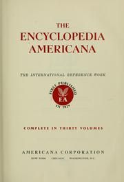 Cover of: The encyclopedia Americana |
