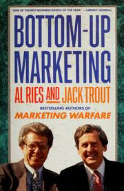 Cover of: Bottom-up marketing | Al Ries