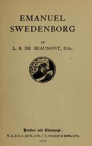 Cover of: Emanuel Swedenborg | L.B. De Beaumont