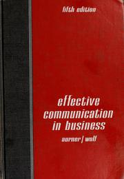 Effective communication in business by Robert Ray Aurner