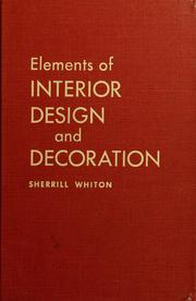 Elements of interior design and decoration (1963 edition) | Open Library