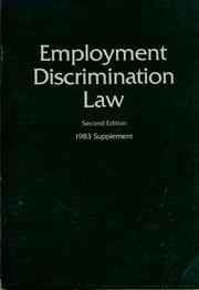 Cover of: Employment discrimination law |