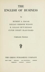 Cover of: The English of business | Hubert A. Hagar