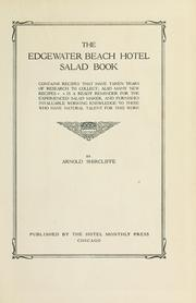 Cover of: The Edgewater Beach Hotel salad book | Shircliffe, Arnold