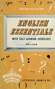 Cover of: English essentials, with self-scoring exercises | Herbert B. Nelson