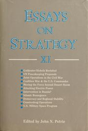 Cover of: Essays on strategy, XI | Petrie John N.