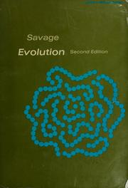 Cover of: Evolution | Jay Mathers Savage