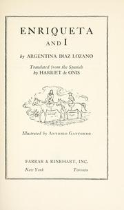 Cover of: Enriqueta and I | Argentina DiМЃaz Lozano