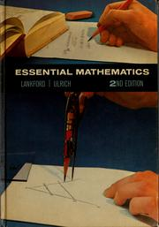 Cover of: Essential mathematics | Francis Greenfield Lankford