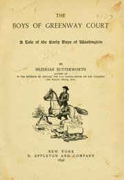 Cover of: Boys of Greenway court | Hezekiah Butterworth
