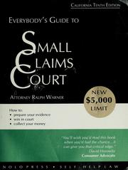 Cover of: Everybody's small claims court | Ralph E. Warner