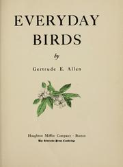 Cover of: Everyday birds | Gertrude E. Allen