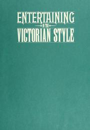 Cover of: Entertaining in the Victorian style | Marilyn Hansen