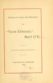 Cover of: Extracts from the writings of Yoor strooly | [O