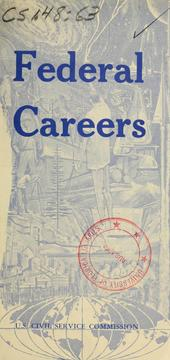 Cover of: Federal careers | United States Civil Service Commission.