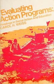 Cover of: Evaluating action programs | Carol H. Weiss