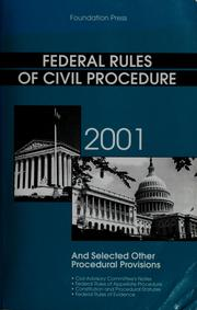 Cover of: Federal rules of civil procedure |
