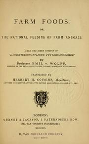 Cover of: Farm foods | Emil Theodor von Wolff