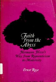 Cover of: Faith from the abyss | Ernst Rose