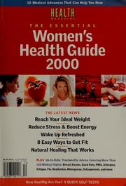 Cover of: The essential women's health guide 2000 |
