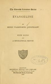 Cover of: Evangeline | Henry Wadsworth Longfellow