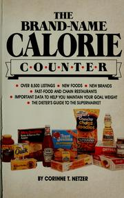 Cover of: The brand-name calorie counter | Corinne T. Netzer