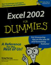 Cover of: Excel 2002 for dummies