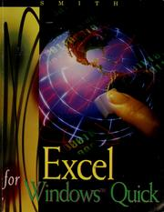 Cover of: Excel for Windows Quick | Gaylord N. Smith