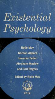 Existential psychology by Rollo May